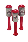 Ohio State Buckeyes Set of 3 Graphite Head Covers